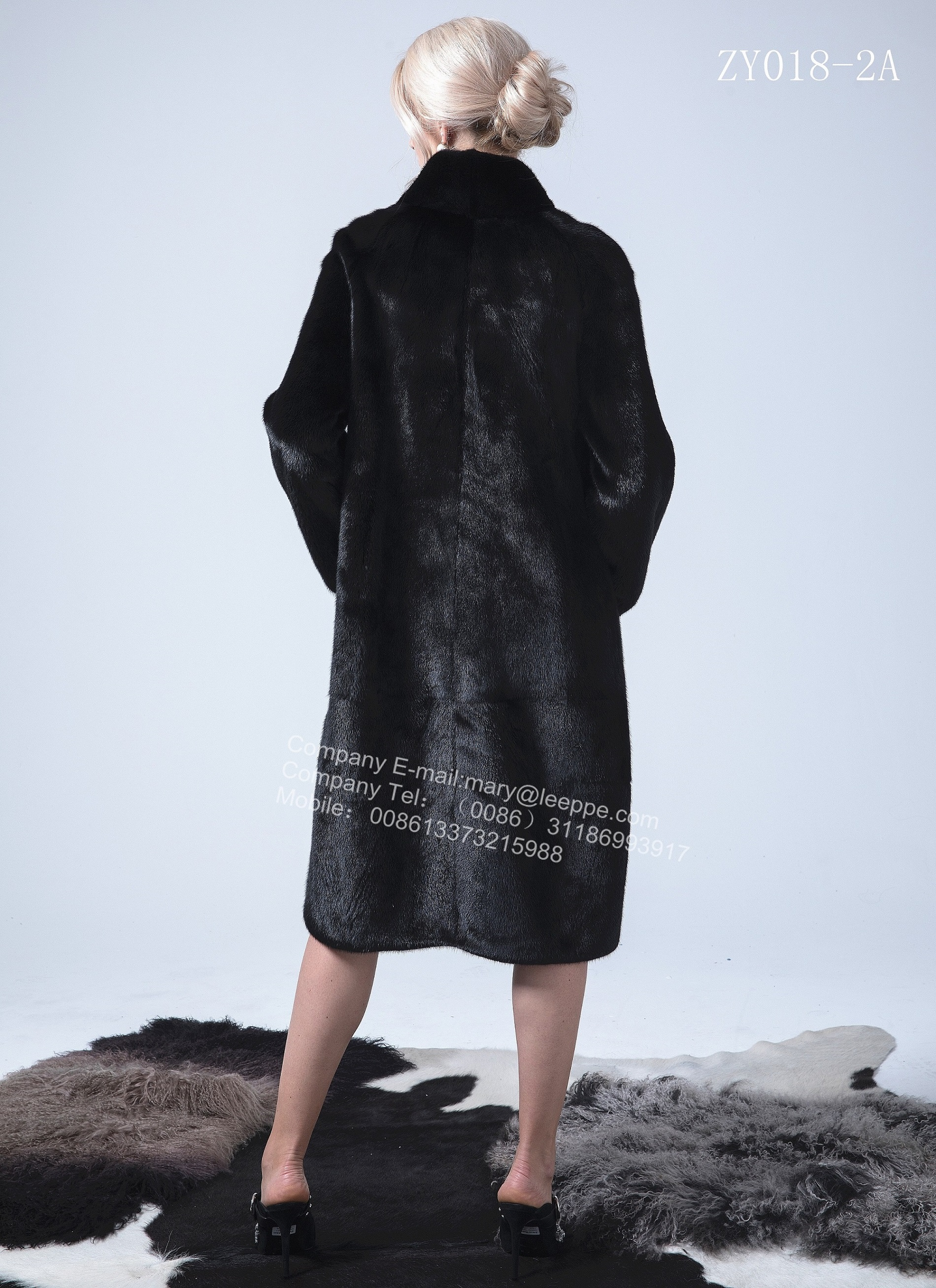 Reversible Women Copenhagen Mink Wind Coat