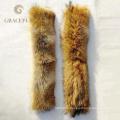 Eco-содружественный естественный натуральный мех капюшон меховой опушкой воротник