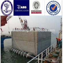 inflatable floating pontoon for platform and sunken ship salvage