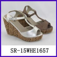 Mode T Strap billig Plattform Schuh Frauen Sommer Plattform Plattform Schuhe