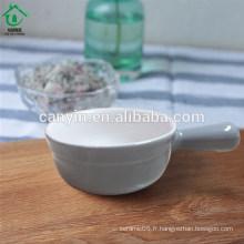 Hot Selling petit plat de beurre de vache en céramique