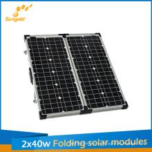 80W складывая набор панели солнечных батарей для кемпинга, Солнечный модуль