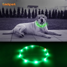 Waterproof TPR Tube Led Glow Up Dog Collar