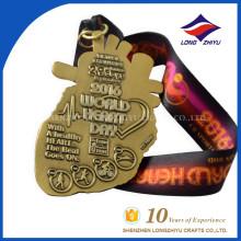 2016 Benutzerdefinierte und modische Design Welt Herz Gesundheit Symbol Medaille