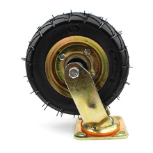 8  inch heavy duty flat plate inflatable casters and  swivel wheel and galvanized casters