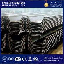 Palplanches de tôle d'acier secondaire 600x130x10.3x61.8kgs / m