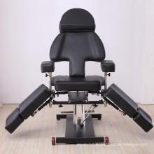 Многофункциональные черные стулья для татуировки / кровати для татуировки