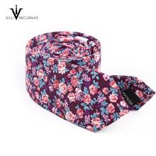 Cravates de coton maigres florales de Paisley faites sur commande de mode pour les hommes