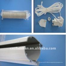 Faixa de cortina de alumínio, unidade de controle com corrente de cortina de plástico, rolo de fita para cortina romana, acessório de cortina romana