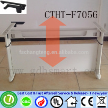 CTHT-F7056 PDVSA company adjustable height office table frame in 2 legs with manual crank adjustable laptop desk frame