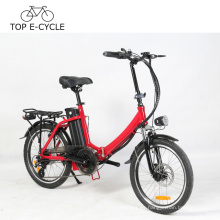 Marco plegable de la bicicleta eléctrica colorida carga de la carga de 20 pulgadas bici eléctrica del chino E de la bici a2b