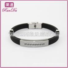 Bracelete de silicone personalizado bracelete de silicone dos homens frescos