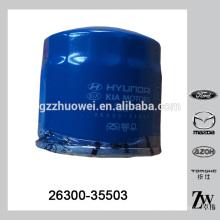 Automotive Parts Car filtro de aceite para Hyundai Mitsubishi 26300-35503