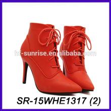 Rote Farbe hotselling Großhandelsporzellanfrauenschuhe