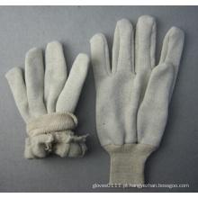 Jersey Liner algodão trabalho luva de malha de pulso (2119)