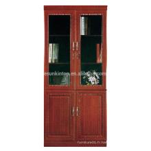 Bibliothèque antique commerciale avec portes vitrées (T8082)