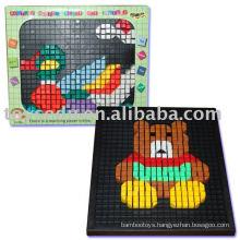 plastic 3D puzzle DIY toys