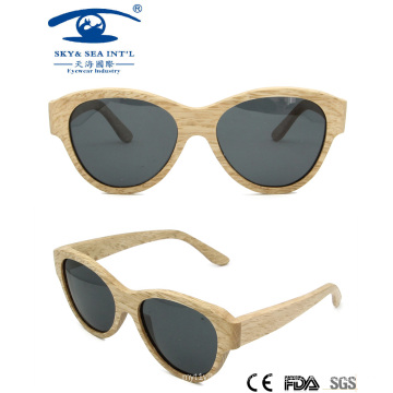 2014 Custom Logo Sunglasses Beech Wooden Sunglasses