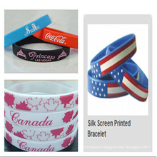 Promotion Silk Screen Printed Bracelet