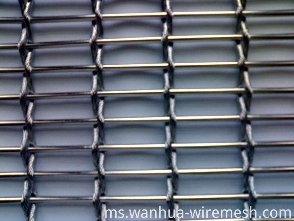 Staniless steel wire rope and bar decorative mesh (1)