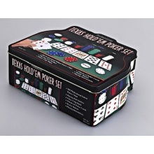 Juego de Poker Texas Hold'em para Casino Style Set 200 Pcs