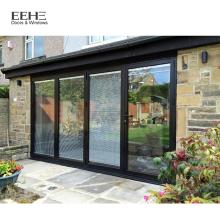 Portes en verre commerciales modernes de porte d'entrée de cadre en aluminium