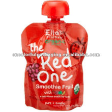 Wählbar Fruchtsaftgeschmack Spezieller Auslauf Design Laminiertes Material Doypack Auslauf-Verpackungsbeutel