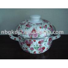 porcelain enamel cookware with full design