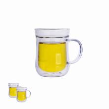 Xícara de chá de parede dupla com alça