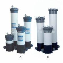 Carcaça de filtro de plástico para filtração de água