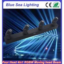 4pcs x 10W RGBW 4in1 führte versiegelten Strahl