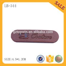 LB344 Wholesale jeans fashion design leather patch labels