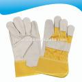 10,5 Zoll gelbe Kuh Split Leder Rigger Arbeitshandschuhe mit voller Palme für die Förderung