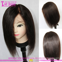Unprocessed top quality layered human hair bob wig 100% 6a bob brazilian hair wigs