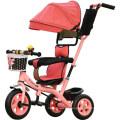 Crianças Crianças Trike Triciclo Passeio no Brinquedo Do Bebê Pram Stroller Jogger Car
