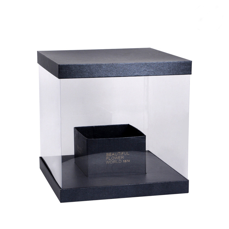 Hard Clear Waterproof Plastic Flower Packaging Box