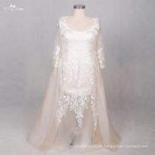 TW0190 Champagne Plus Size Abnehmbare Hochzeitskleid Zug