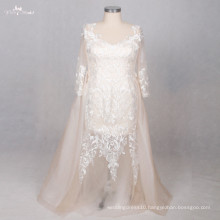 TW0190 Champagne Plus Size Detachable Wedding Dress Train