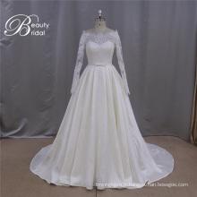Rju009 vente en gros haute Qualitty dentelle appliques robe de mariage nuptiale avec manchon 2016