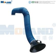 Braço de sucção flexível para coleta de fumaça / poeira
