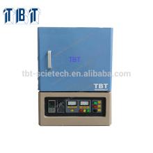 Fornalha de mufla de alta temperatura elétrica da indicação digital do LABORATÓRIO TBT-1700 1700