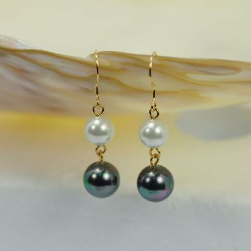 Simple Hanging Pearl  Long Earrings