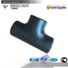 Carbon steel pipe fitting seamless butt weld equal tee for water oil gas