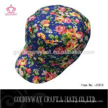 Mode floral T / C Stoff militärischen Kappen