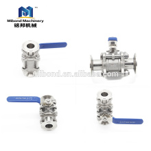 Stainless Steel Tri Clamp 3 PC Ball Valve For Sale