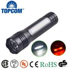 Lampe de poche puissante LED à base magnétique avec éclairage latéral