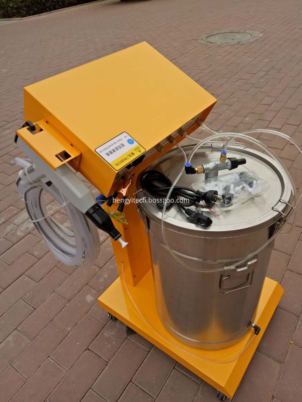 manual spray powder machine