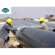 Cold applied tape coatings for line pipe, joints, welds, bends and fittings