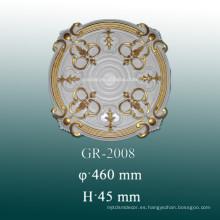 Medallones de techo de PU para el hogar y decoración de interiores