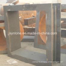 Parede do dedal da peça da fundição de aço do tamanho grande